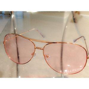 Miz Aviator: pink Lens rose gold Sunnies Shades